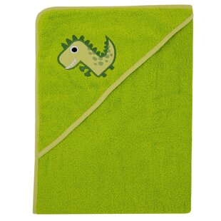 Harborough Dino Hooded Organic Cotton Bath Towel