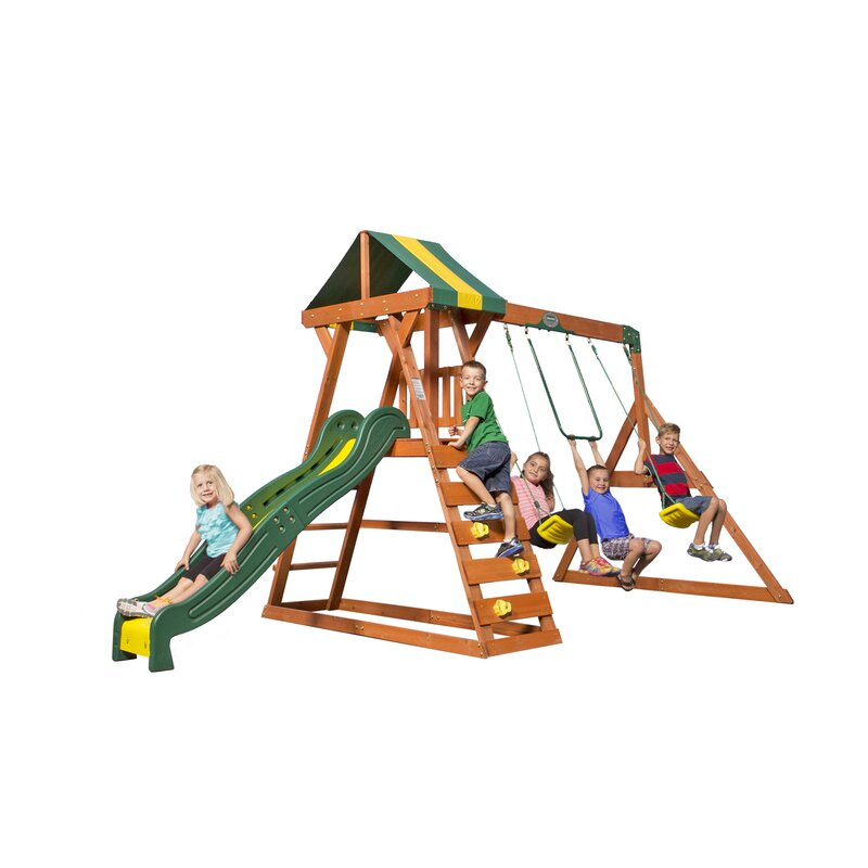 7b9c0fc8ec Backyard Discovery Madison All Cedar Swing set   Reviews