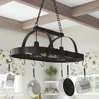 Darby Home Co 2 Light Kitchen Pot Rack Reviews Wayfair