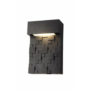 Affordable Hamburg 1-Light LED Outdoor Sconce By Brayden Studio