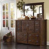 Worksop 8 Drawer Combo Dresser with Mirror by Loon Peak®
