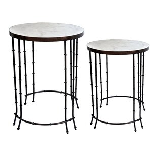 Mamta 2 Piece End Table Set by Bungalow Rose