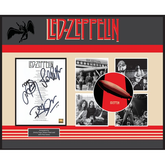 Luxewest Led Zeppelin Autographed Album Stairway To Heaven Framed