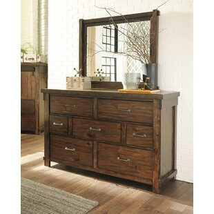 Gracie Oaks Mattalyn 7 Drawer Dresser with M..