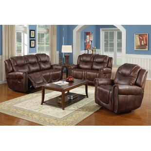 Marsh Island Reclining 3 Piece Living Room Set by Red Barrel Studio