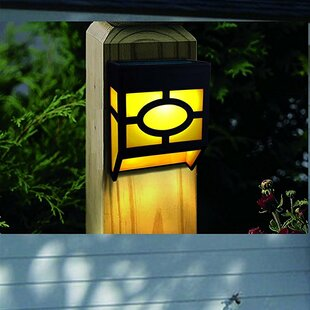 Ebern Designs Cullens 4-Light Fence Post Cap (Set of 4)