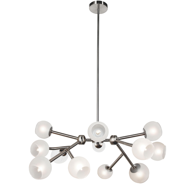 George Oliver Kody 12 Light Sputnik Modern Linear Chandelier
