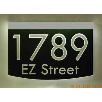 Ezstreetsigns 2 Line Led Address Sign With Landscape Light Adapter Wayfair