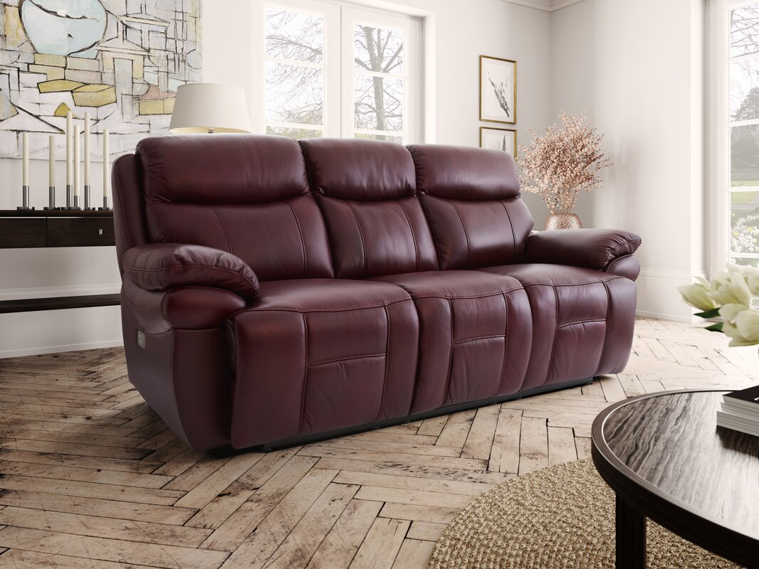 Boston Leather 3 Seater Reclining Sofa & Hyde Line Furniture Boston Leather 3 Seater Reclining Sofa ... islam-shia.org