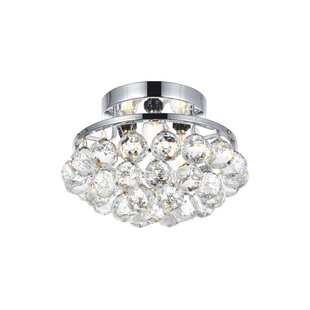 Read Reviews Felicia 3-Light Flush Mount By Rosdorf Park