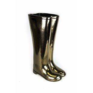 Ivy Bronx Acker Modish Ceramic Boots Umbrella Stand