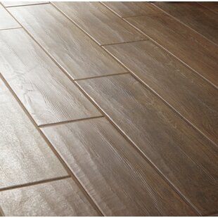 Modern Visual 6 X 24 Porcelain Wood Look Tile In Dark Brown