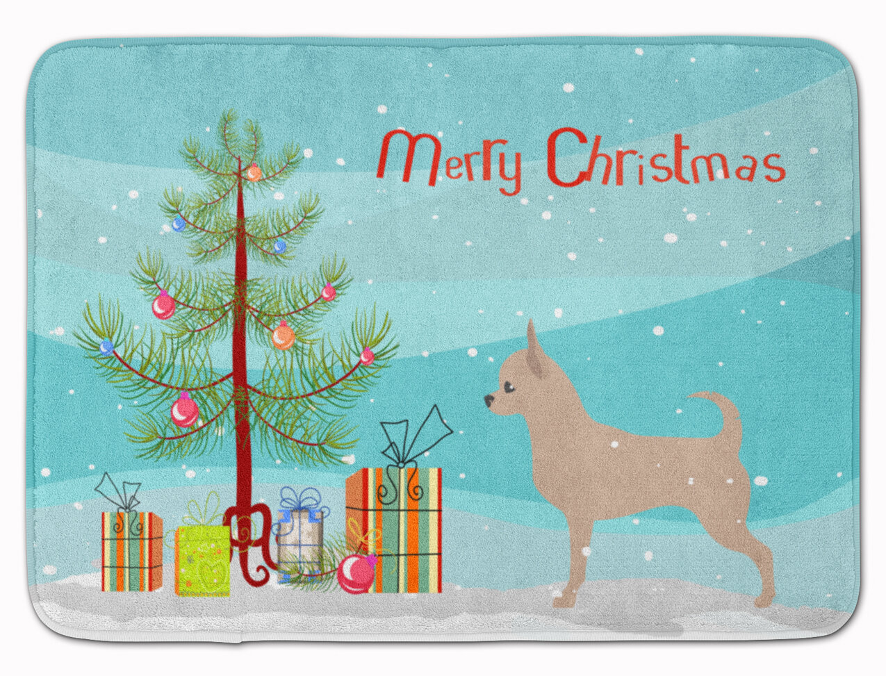 The Holiday Aisle Chihuahua Merry Christmas Tree Memory Foam Bath Rug Wayfair