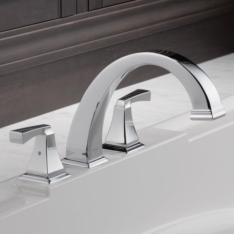 Delta Dryden Double Handle Deck Mount Roman Tub Faucet Trim