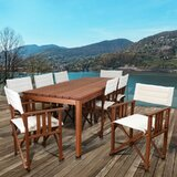 Sanor Patio 9 Piece Dining Set