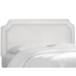 Alcott Hill Twill Notched Upholstered Panel Headboard