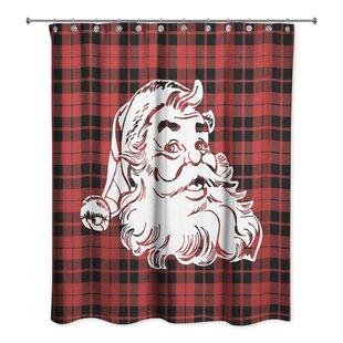 Reva Plaid Santa Shower Curtain