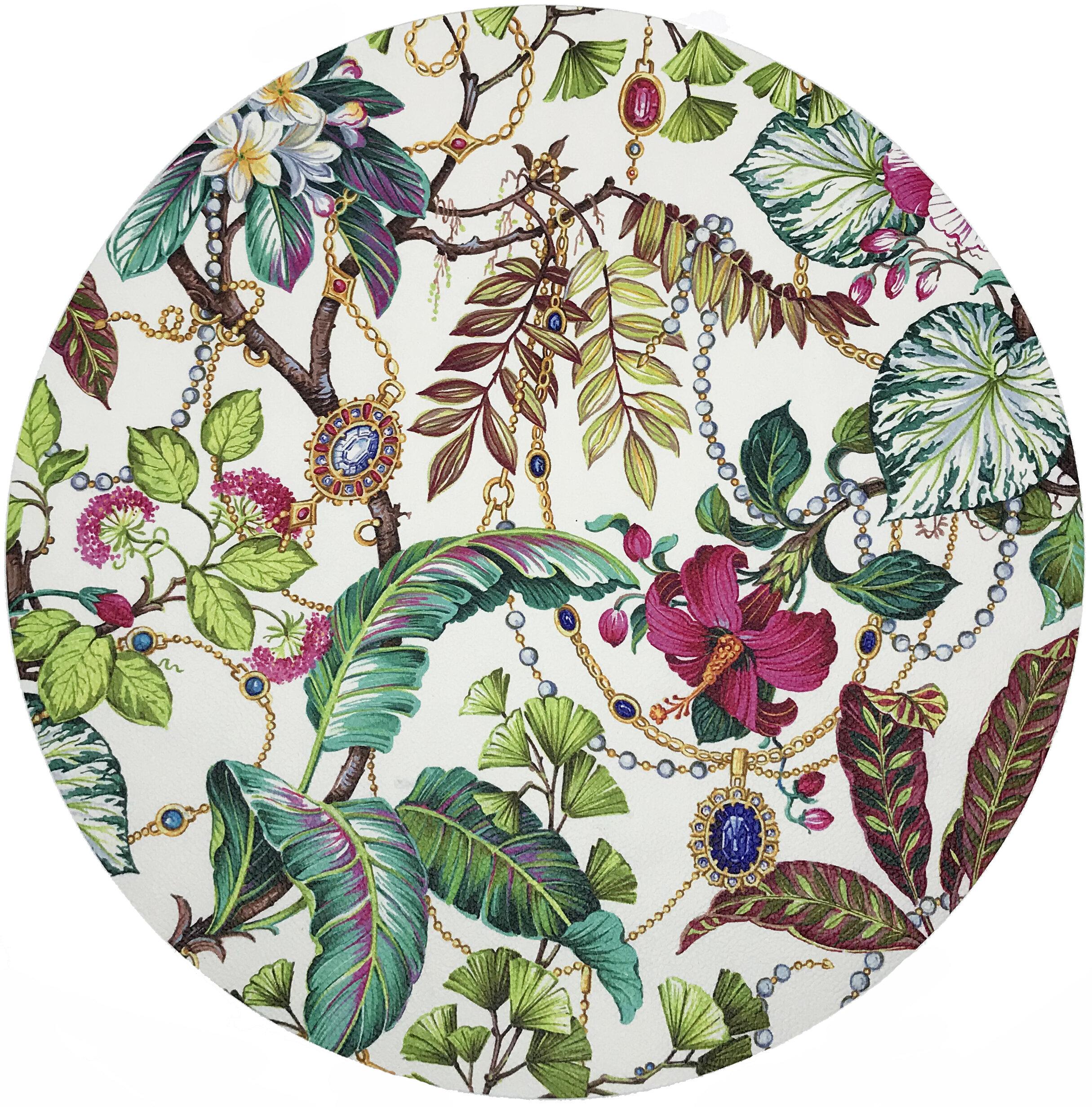 Nicolette Mayer Plumeria Natural Pebble 16 Vinyl Placemat Wayfair