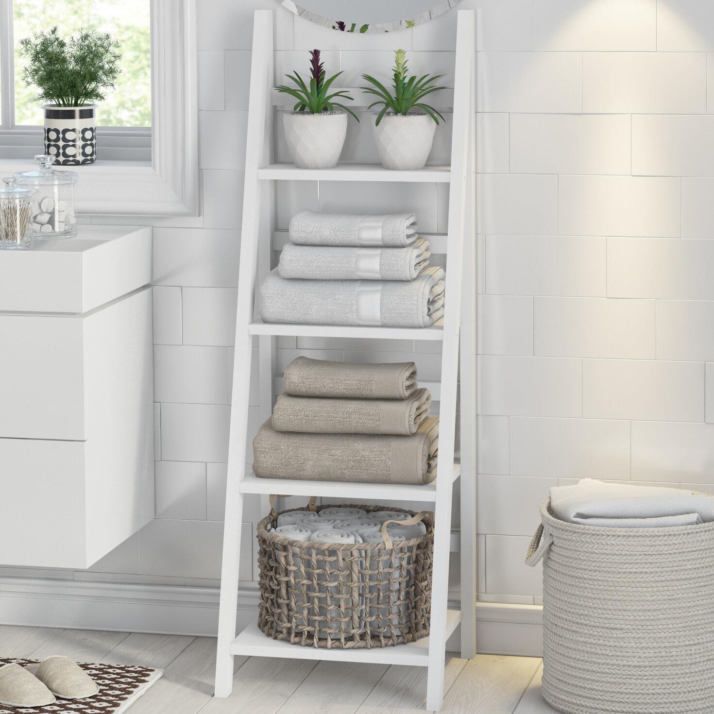 Hykkon Jadyn 44cm X 134cm Bathroom Shelf Reviews Wayfair Co Uk