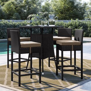 Brentwood 5 Piece Bar Height Dining Set w..