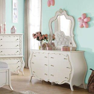 Saffold 6 Drawer Double Dresser with Mirror ByHarriet Bee