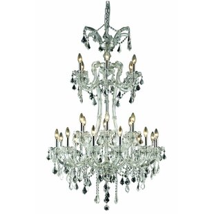 House of Hampton Regina Traditional 24-Light Candle Style Chandelier