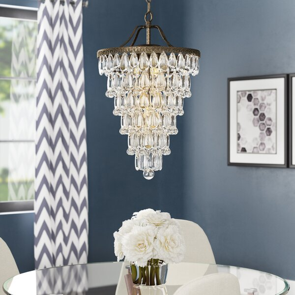 House Of Hampton Totnes 4 Light Unique Statement Tiered Chandelier With Crystal Accents Reviews Wayfair