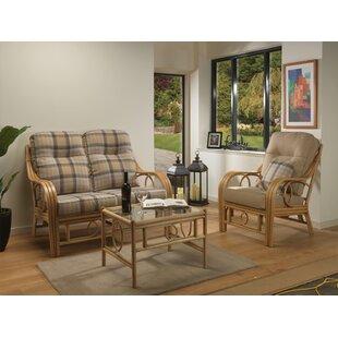 Price Sale Julianna 3 Piece Conservatory Sofa Set