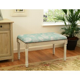 123 Creations Seashells Wood Bench