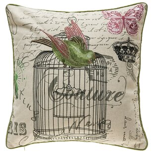 Kinzel Vintage Bird Cage Throw Pillow