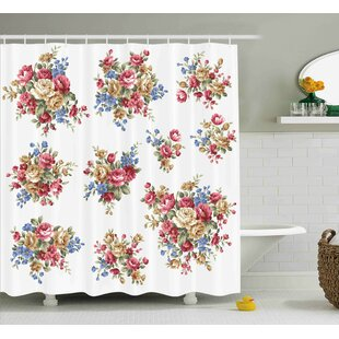 Dahlia Romance Love Wedding Single Shower Curtain