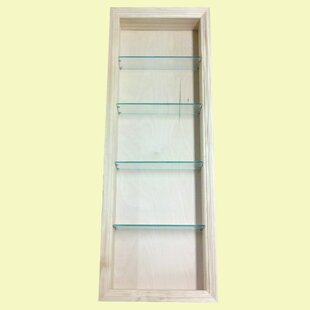 Newberry 15.5 W x 49.5 H Recessed Shelving by WG Wood Products