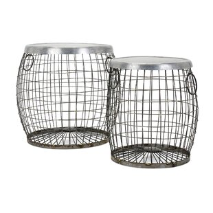 Nader 2 Piece Wire End Table Set by Williston Forge