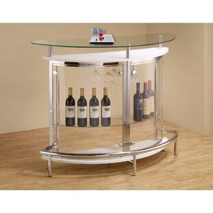 Teeken Bar with Wine Storage by Ebern Designs