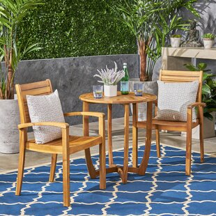 Scottsville Outdoor 3 Piece Bistro Set