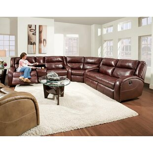 Shop Maverick Leather Reversible Reclining Sectional by Southern Motion