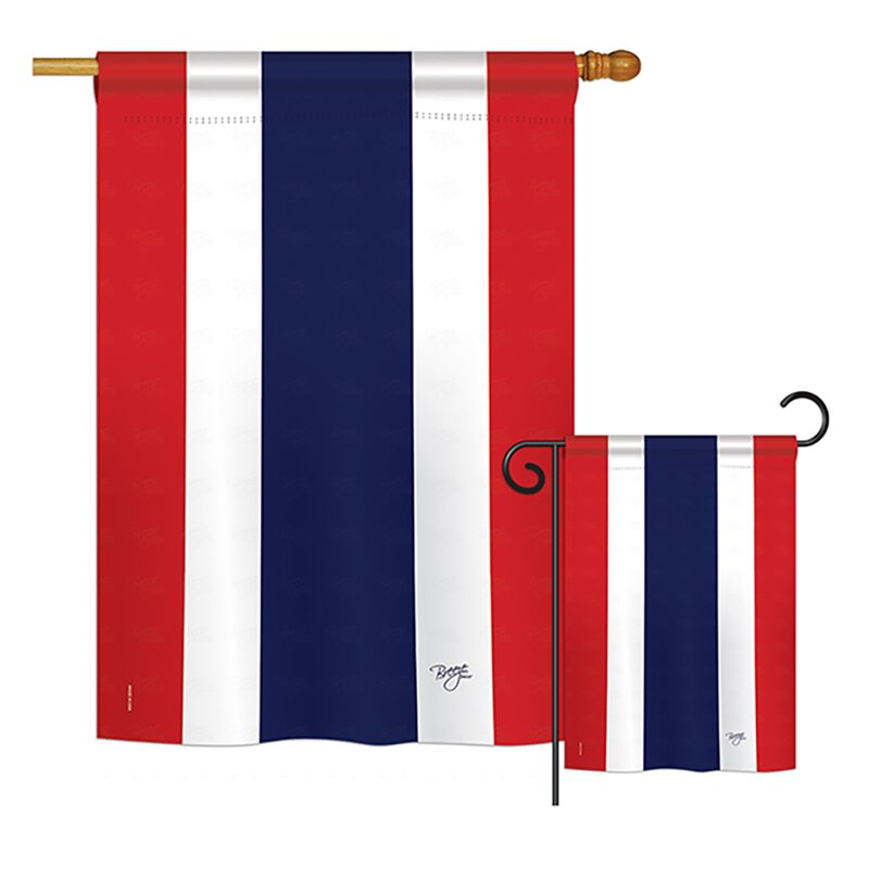 Breeze Decor 2 Piece Thailand Of The World Nationality Impressions Decorative Vertical 2 Sided Polyester Flag Set Wayfair