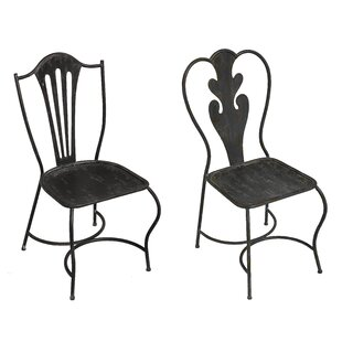 Merrill 2 Piece Metal Side Chair Set (Set of 2) August Grove