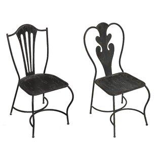 Merrill 2 Piece Metal Side Chair Set