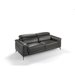 Ebeling Genuine Leather Upholstered 3 Seater Reclining Sofa By Ebern Designs