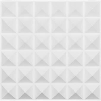 Orren Ellis Godlewski 19 7 X 19 7 Vinyl Wall Paneling In White Reviews Wayfair
