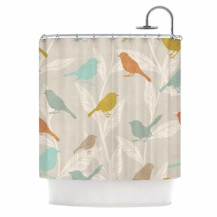 'Tweet' Nature Single Shower Curtain