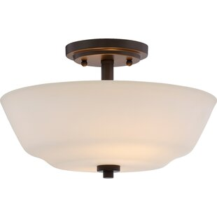 Charlton Home Torbett 2-Light Semi Flush Mount