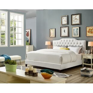 Lawrenceville Faux Leather Upholstered Platform Bed by Everly Quinn