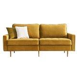 Spitler Velvet Modular 71 Square Arm Sofa by Everly Quinn
