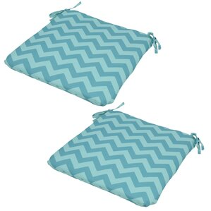 chevron seat pad outdoor chair cushion set of 2