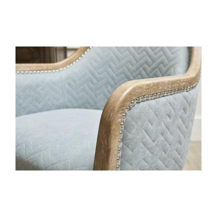 Remarkable Ziggy Wood Quilted Armchair Interior Design Ideas Clesiryabchikinfo