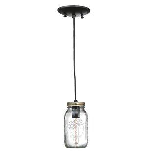 Mason Jar 1-Light Mini Pendant..