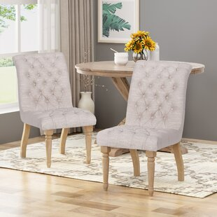 Compare prices Mona Upholstered Dining Chair (Set of 2) by One Allium Way Reviews (2019) & Buyer's Guide