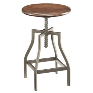 Berger Adjustable Height Swivel Bar Stool by Williston Forge 2019 Coupon